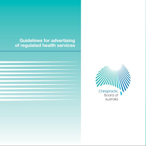 AHPRA Guidelines (c)AHPRA 2014